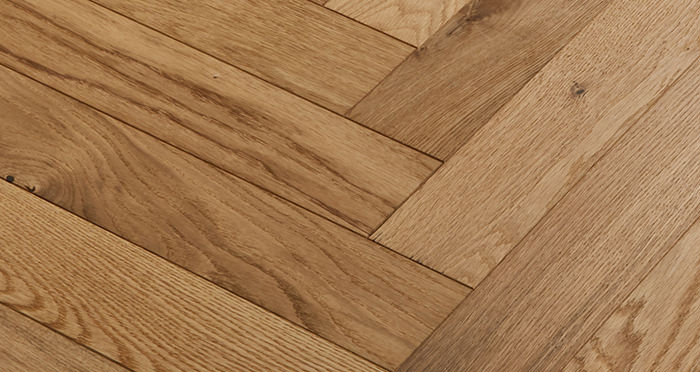 Oxford Herringbone Natural Oak Engineered Wood Flooring - Descriptive 4