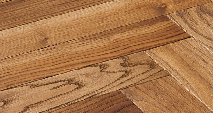 Park Avenue Herringbone Georgian Oak Solid Wood Flooring - Descriptive 2