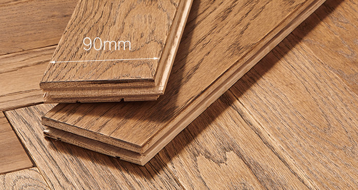 Park Avenue Herringbone Georgian Oak Solid Wood Flooring - Descriptive 3