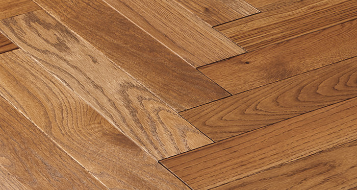 Park Avenue Herringbone Georgian Oak Solid Wood Flooring - Descriptive 5