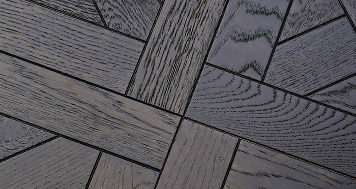 Colmar Smoked Oak Brushed & Oiled Versailles Tile Engineered Wood Flooring - Descriptive 2