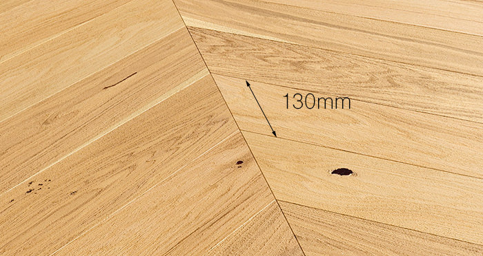 Chelsea Chevron - Natural Oak Brushed & Lacquered Engineered Wood Flooring - Descriptive 3