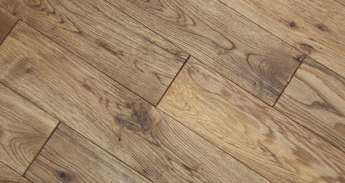 Natural Oak 90mm Brushed & Oiled Solid Wood Flooring - Descriptive 2