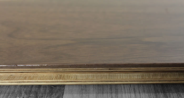 American Black Walnut Lacquered Engineered Wood Flooring - Descriptive 1