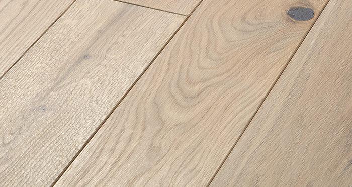 Elegant Frosted Oak Brushed & Oiled Solid Wood Flooring - Descriptive 1