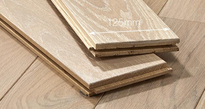 Elegant Frosted Oak Brushed & Oiled Solid Wood Flooring - Descriptive 3