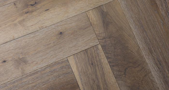 Brooklyn Pebble Herringbone Oak Engineered Wood Flooring - Descriptive 2