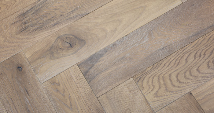 Brooklyn Pebble Herringbone Oak Engineered Wood Flooring - Descriptive 3