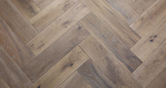 Brooklyn Pebble Herringbone Oak Engineered Wood Flooring - Descriptive 4