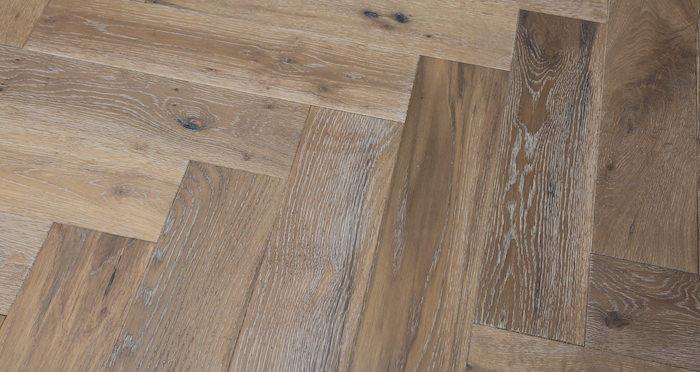 Brooklyn Pebble Herringbone Oak Engineered Wood Flooring - Descriptive 5