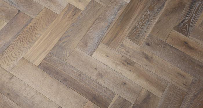 Brooklyn Pebble Herringbone Oak Engineered Wood Flooring - Descriptive 6