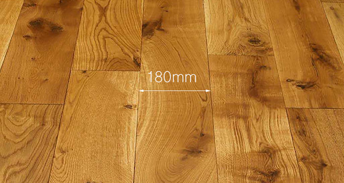 Luxury Natural Oak Solid Wood Flooring - Descriptive 3