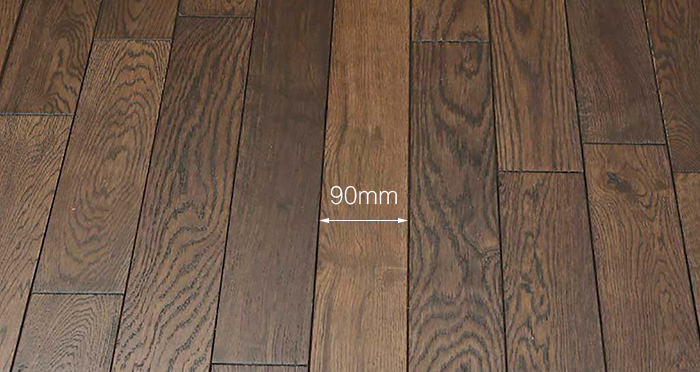Espresso Oak Brushed & Lacquered Solid Wood Flooring - Descriptive 3