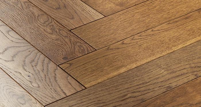 Oxford Herringbone Golden Smoked Oak Engineered Wood Flooring - Descriptive 1