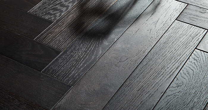 Branscombe Smoked Ember Herringbone Oak Engineered Wood Flooring - Descriptive 1