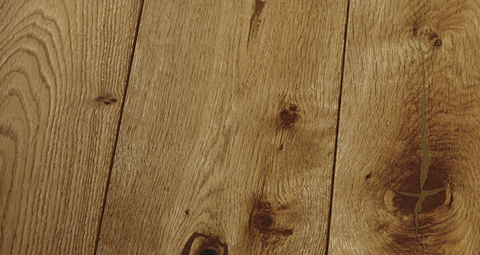 Farmhouse Golden Smoked Oak Brushed & Lacquered Engineered Wood Flooring - Descriptive 3