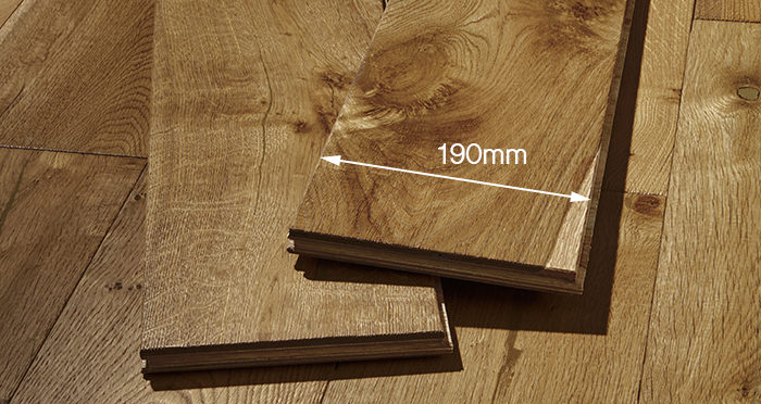 Farmhouse Golden Smoked Oak Brushed & Lacquered Engineered Wood Flooring - Descriptive 4