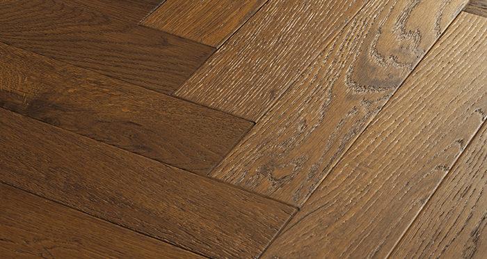 Oxford Herringbone Honeycomb Oak Brushed & Oiled Engineered Wood Flooring - Descriptive 4