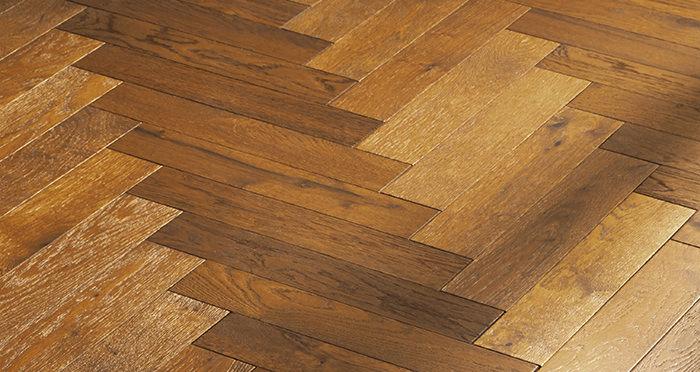 Oxford Herringbone Honeycomb Oak Brushed & Oiled Engineered Wood Flooring - Descriptive 5