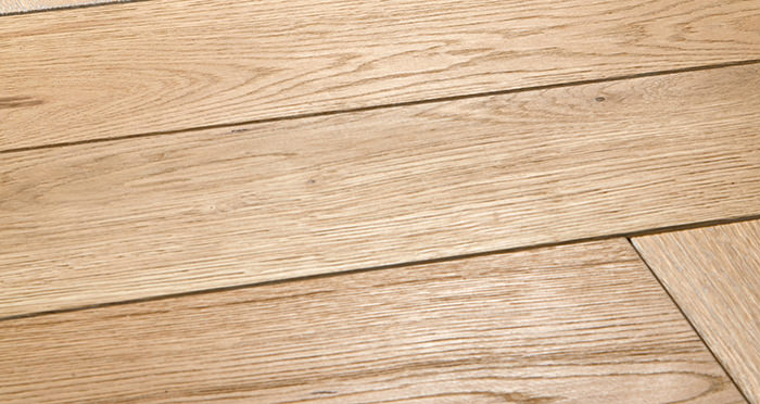 Luxury Whitewashed Parquet Oak Solid Wood Flooring - Descriptive 1