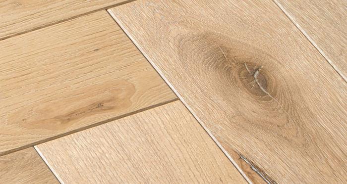 Luxury Whitewashed Parquet Oak Solid Wood Flooring - Descriptive 3