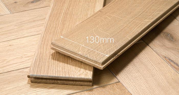 Luxury Whitewashed Parquet Oak Solid Wood Flooring - Descriptive 4