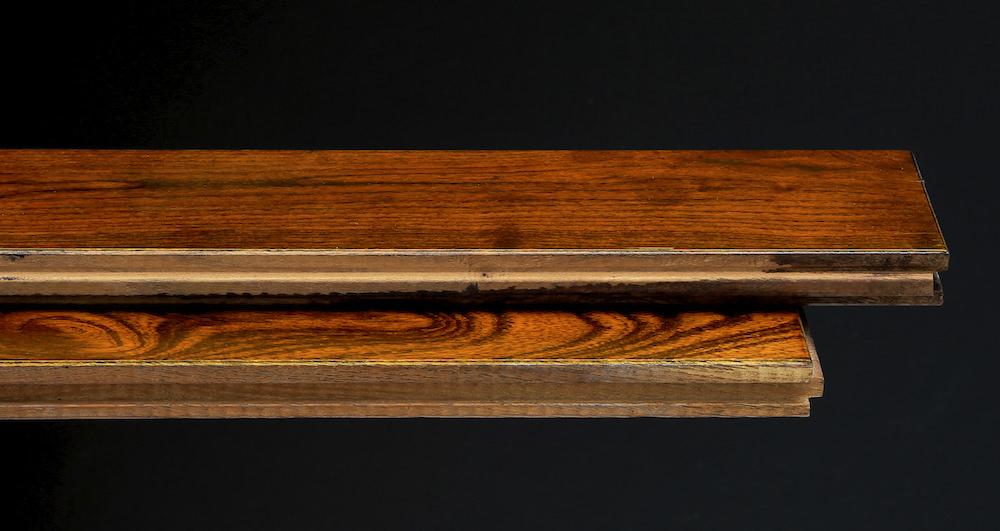 Pacific Mahogany Burgundy Lacquered Solid Wood Flooring - Descriptive 1