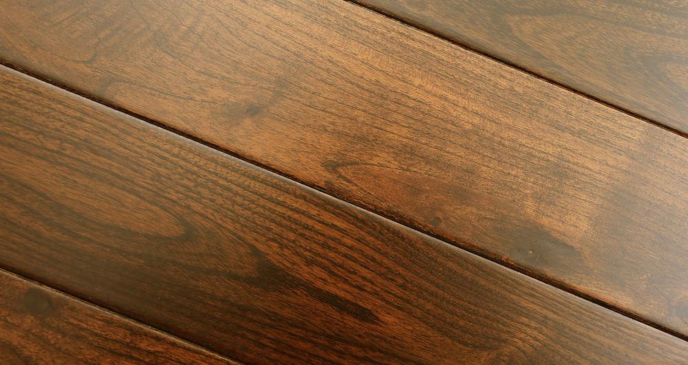Pacific Mahogany Burgundy Lacquered Solid Wood Flooring - Descriptive 3