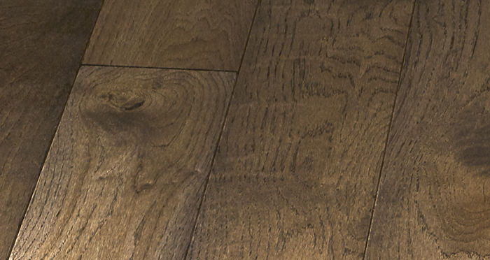 Elegant Espresso Oak Brushed & Oiled Solid Wood Flooring - Descriptive 2