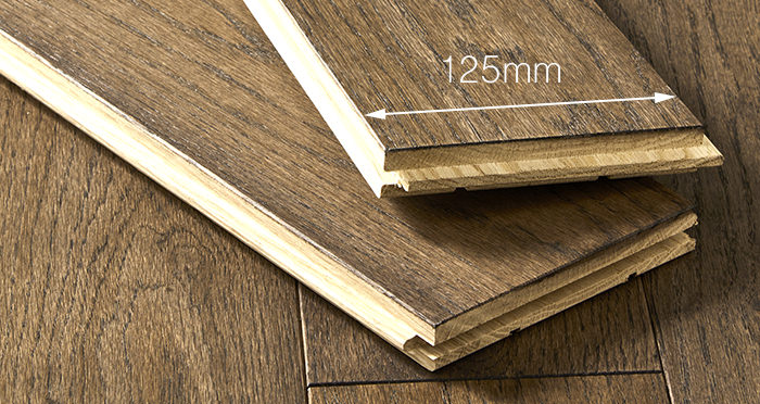 Elegant Espresso Oak Brushed & Oiled Solid Wood Flooring - Descriptive 3