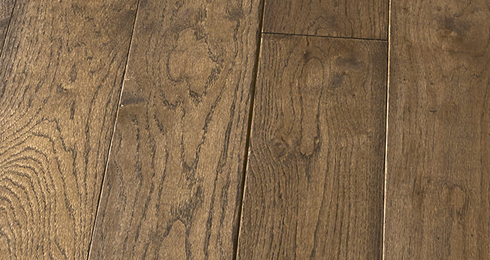 Elegant Espresso Oak Brushed & Oiled Solid Wood Flooring - Descriptive 5
