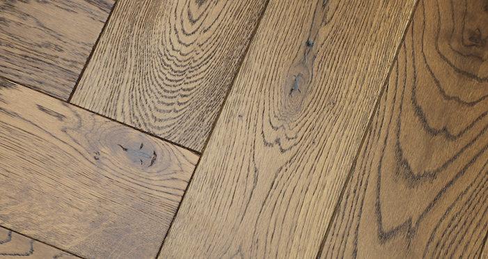 Brooklyn Golden Herringbone Oak Engineered Wood Flooring - Descriptive 3