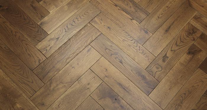Brooklyn Golden Herringbone Oak Engineered Wood Flooring - Descriptive 4