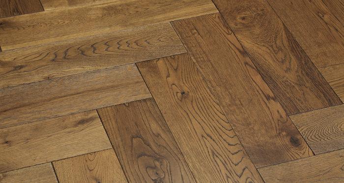 Brooklyn Golden Herringbone Oak Engineered Wood Flooring - Descriptive 5
