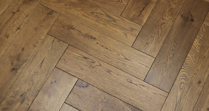 Brooklyn Golden Herringbone Oak Engineered Wood Flooring - Descriptive 6