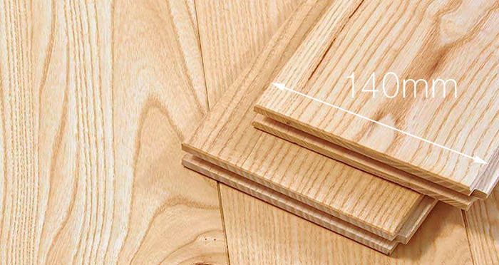 Natural Oiled Ash Solid Wood Flooring - Descriptive 3
