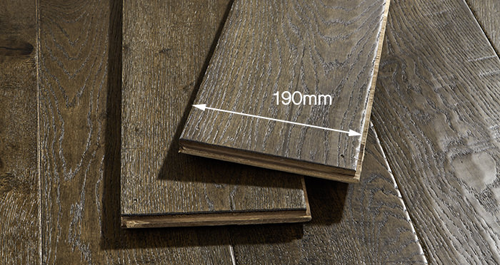Grand Vintage Oak Distressed Brushed & Lacquered Engineered Wood Flooring - Descriptive 6