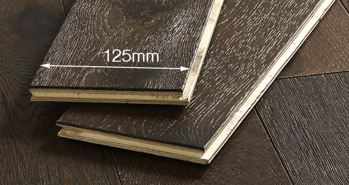 Studio Coffee Oak Brushed & Lacquered Engineered Wood Flooring - Descriptive 3