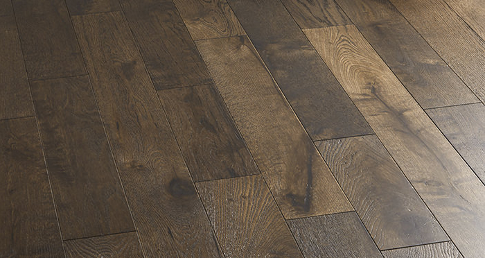 Studio Coffee Oak Brushed & Lacquered Engineered Wood Flooring - Descriptive 5