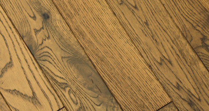 Muscovado Oak Brushed & Lacquered Solid Wood Flooring - Descriptive 1