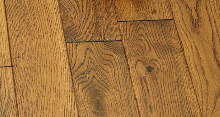 Muscovado Oak Brushed & Lacquered Solid Wood Flooring - Descriptive 2