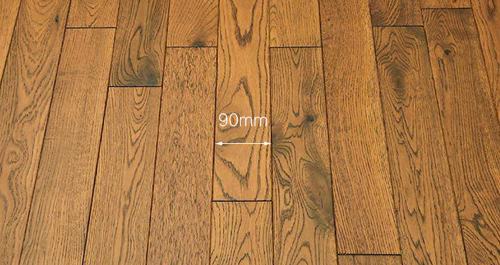 Muscovado Oak Brushed & Lacquered Solid Wood Flooring - Descriptive 3