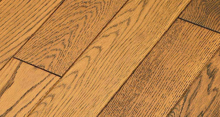 Muscovado Oak Brushed & Lacquered Solid Wood Flooring - Descriptive 5