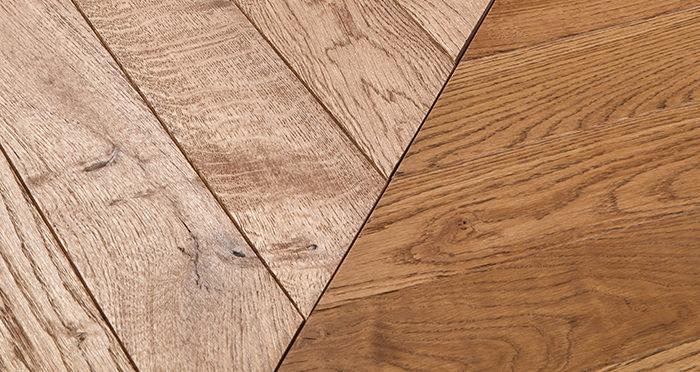 Park Avenue Chevron Cinnamon Oak Brushed & Oiled Solid Wood Flooring - Descriptive 1