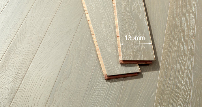 Salcombe Grey Boardwalk Oak Engineered Wood Flooring - Descriptive 2