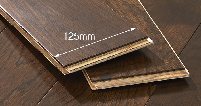 Studio Chocolate Oak Lacquered Engineered Wood Flooring - Descriptive 3