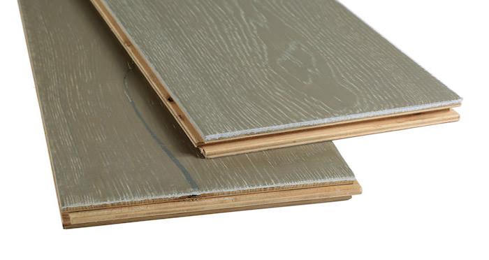 Calvados Grey Oak Brushed & Oiled Engineered Wood Flooring - Descriptive 1