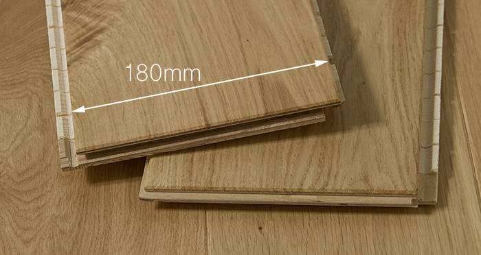 Trade Select 14mm x 180mm Natural Lacquered Engineered Wood Flooring - Descriptive 2