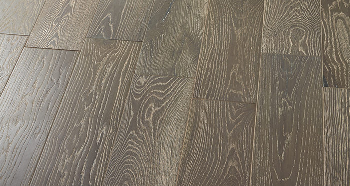 Manhattan Urban Grey Oak Brushed & Lacquered Engineered Wood Flooring - Descriptive 2