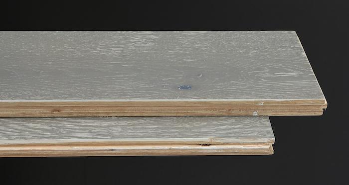 Pewter Oak Brushed & Lacquered Engineered Wood Flooring - Descriptive 1
